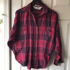 VTG DVF batwing flannel button down